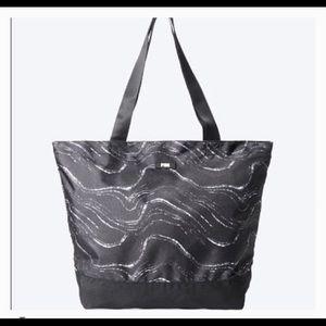 VS Pink marble weekender bag